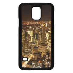 New York City At Night Future City Night Samsung Galaxy S5 Case (black)
