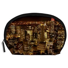New York City At Night Future City Night Accessory Pouches (large)
