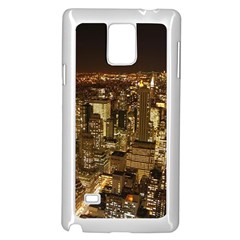 New York City At Night Future City Night Samsung Galaxy Note 4 Case (white)