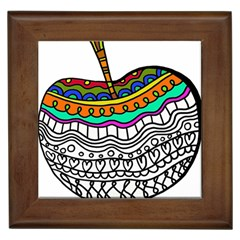 Abstract Apple Art Colorful Framed Tiles