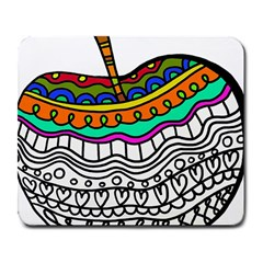 Abstract Apple Art Colorful Large Mousepads