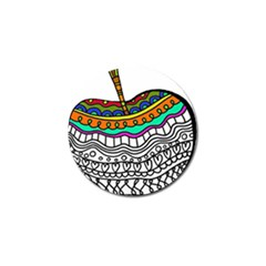 Abstract Apple Art Colorful Golf Ball Marker (4 Pack)