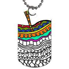 Abstract Apple Art Colorful Dog Tag (two Sides)