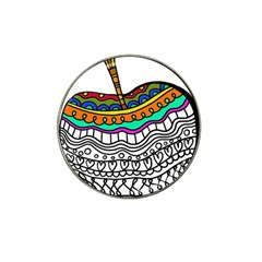 Abstract Apple Art Colorful Hat Clip Ball Marker (4 Pack)
