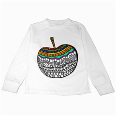 Abstract Apple Art Colorful Kids Long Sleeve T Shirts