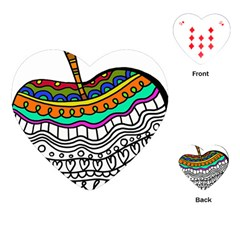 Abstract Apple Art Colorful Playing Cards (heart)