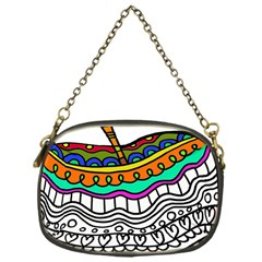 Abstract Apple Art Colorful Chain Purses (one Side)