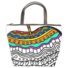 Abstract Apple Art Colorful Bucket Bags
