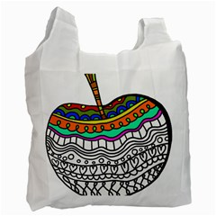 Abstract Apple Art Colorful Recycle Bag (two Side)