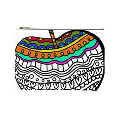 Abstract Apple Art Colorful Cosmetic Bag (large)