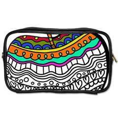 Abstract Apple Art Colorful Toiletries Bags 2 Side