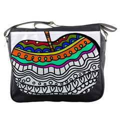 Abstract Apple Art Colorful Messenger Bags