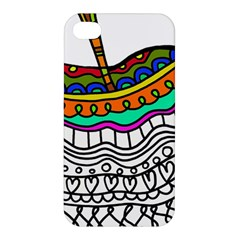 Abstract Apple Art Colorful Apple Iphone 4/4s Premium Hardshell Case