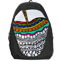 Abstract Apple Art Colorful Backpack Bag