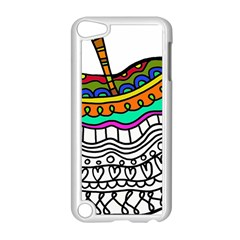 Abstract Apple Art Colorful Apple Ipod Touch 5 Case (white)