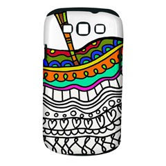 Abstract Apple Art Colorful Samsung Galaxy S Iii Classic Hardshell Case (pc+silicone)