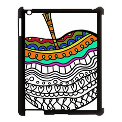 Abstract Apple Art Colorful Apple Ipad 3/4 Case (black)