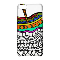 Abstract Apple Art Colorful Apple Ipod Touch 5 Hardshell Case With Stand