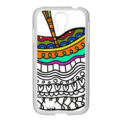 Abstract Apple Art Colorful Samsung Galaxy S4 I9500/ I9505 Case (white)