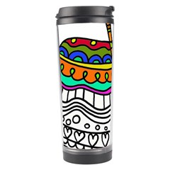 Abstract Apple Art Colorful Travel Tumbler