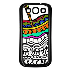 Abstract Apple Art Colorful Samsung Galaxy S3 Back Case (black)