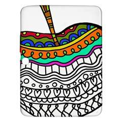 Abstract Apple Art Colorful Samsung Galaxy Tab 3 (10 1 ) P5200 Hardshell Case
