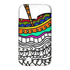 Abstract Apple Art Colorful Samsung Galaxy S4 Classic Hardshell Case (pc+silicone)