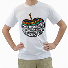 Abstract Apple Art Colorful Men s T Shirt (white)