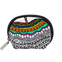 Abstract Apple Art Colorful Accessory Pouches (small)