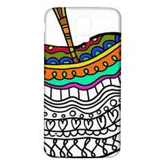 Abstract Apple Art Colorful Samsung Galaxy S5 Back Case (white)