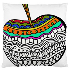 Abstract Apple Art Colorful Large Flano Cushion Case (two Sides)