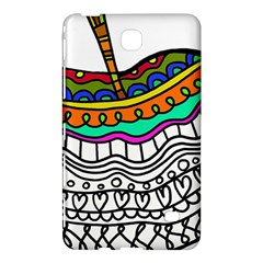 Abstract Apple Art Colorful Samsung Galaxy Tab 4 (7 ) Hardshell Case