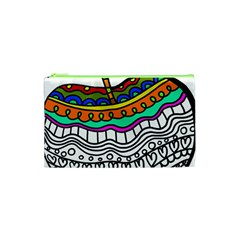 Abstract Apple Art Colorful Cosmetic Bag (xs)
