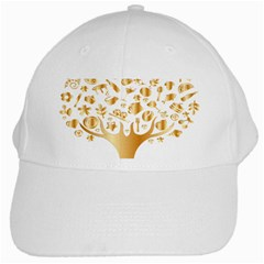 Abstract Book Floral Food Icons White Cap
