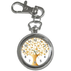 Abstract Book Floral Food Icons Key Chain Watches