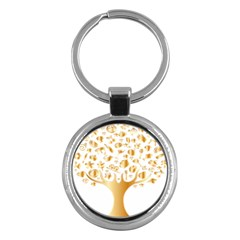 Abstract Book Floral Food Icons Key Chains (round)