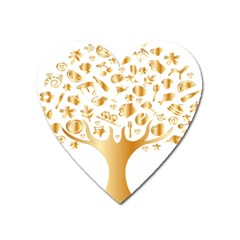 Abstract Book Floral Food Icons Heart Magnet