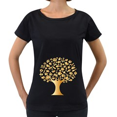 Abstract Book Floral Food Icons Women s Loose Fit T Shirt (black)