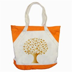 Abstract Book Floral Food Icons Accent Tote Bag