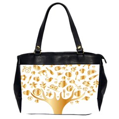Abstract Book Floral Food Icons Office Handbags (2 Sides)