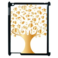 Abstract Book Floral Food Icons Apple Ipad 2 Case (black)