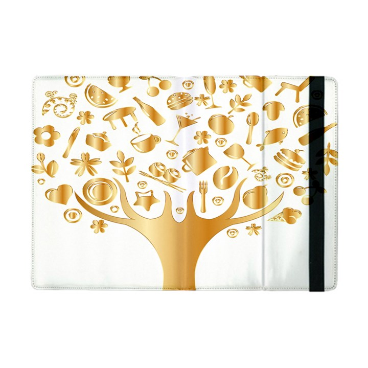 Abstract Book Floral Food Icons Apple iPad Mini Flip Case