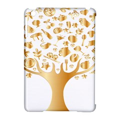 Abstract Book Floral Food Icons Apple Ipad Mini Hardshell Case (compatible With Smart Cover)