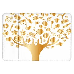Abstract Book Floral Food Icons Samsung Galaxy Tab 8 9  P7300 Flip Case