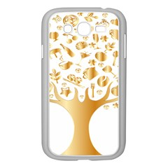 Abstract Book Floral Food Icons Samsung Galaxy Grand Duos I9082 Case (white)