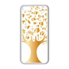 Abstract Book Floral Food Icons Apple Iphone 5c Seamless Case (white)