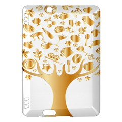 Abstract Book Floral Food Icons Kindle Fire Hdx Hardshell Case