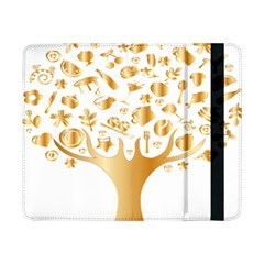 Abstract Book Floral Food Icons Samsung Galaxy Tab Pro 8 4  Flip Case