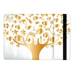 Abstract Book Floral Food Icons Samsung Galaxy Tab Pro 10 1  Flip Case