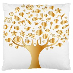 Abstract Book Floral Food Icons Standard Flano Cushion Case (one Side)